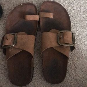 Tan Buckle Sandal